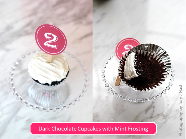 Chocolate Cupcakes with Mint Frosting 2