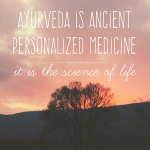 image is Ayurveda is ancient personalized medicine